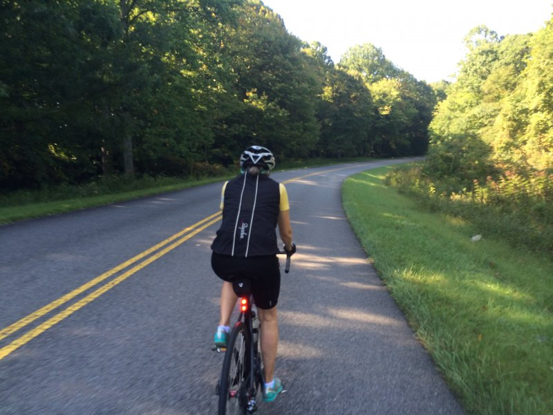 Cyclist on Blue Ridge Parkway