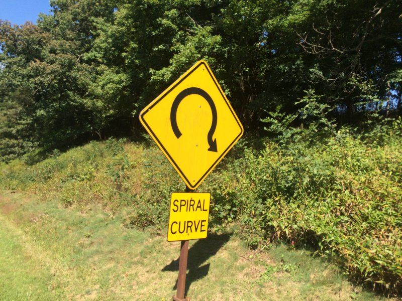 Spiral Curve on Blue Ridge Parkway
