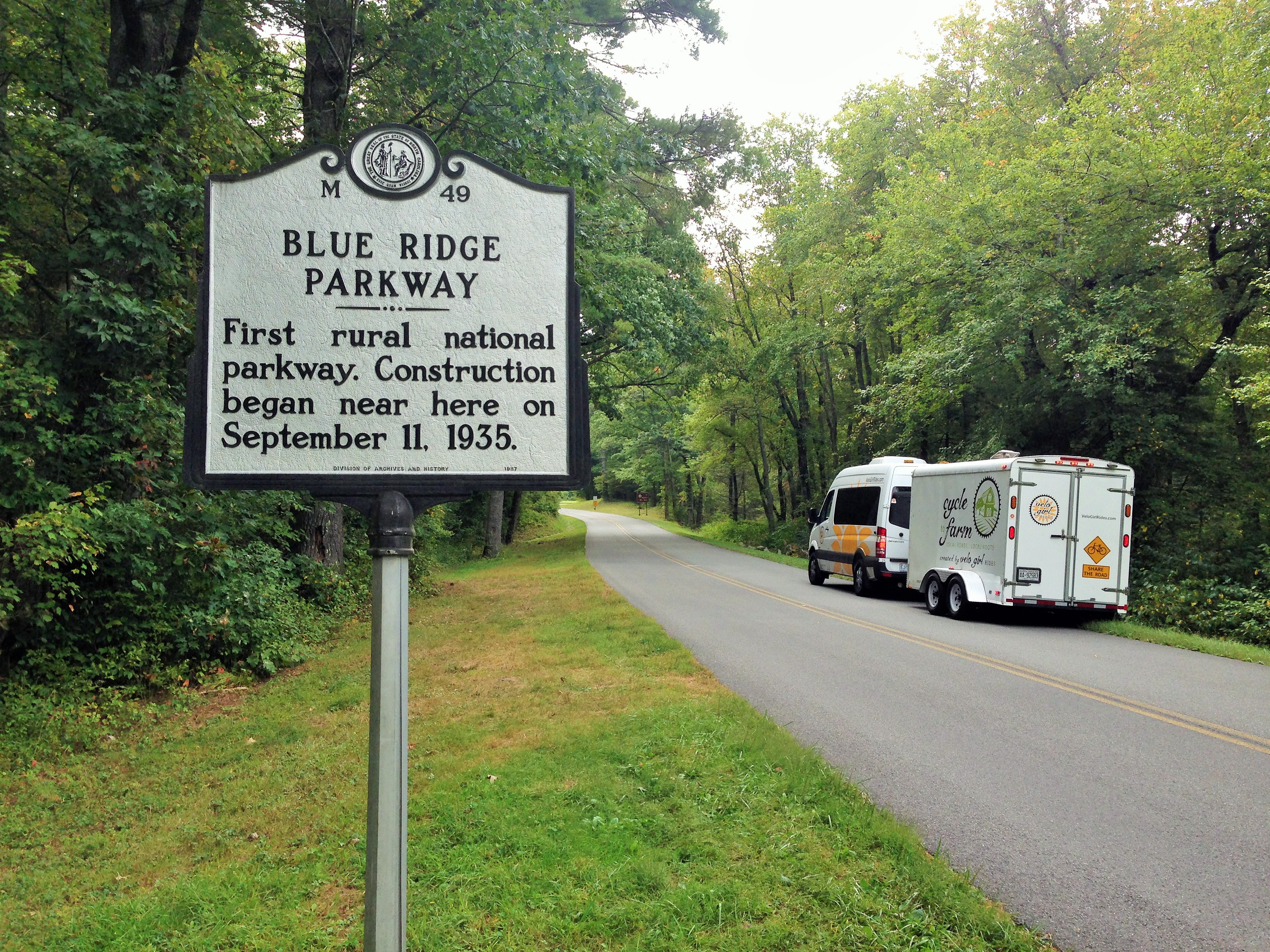 Blue Ridge Parkway Historic Marker