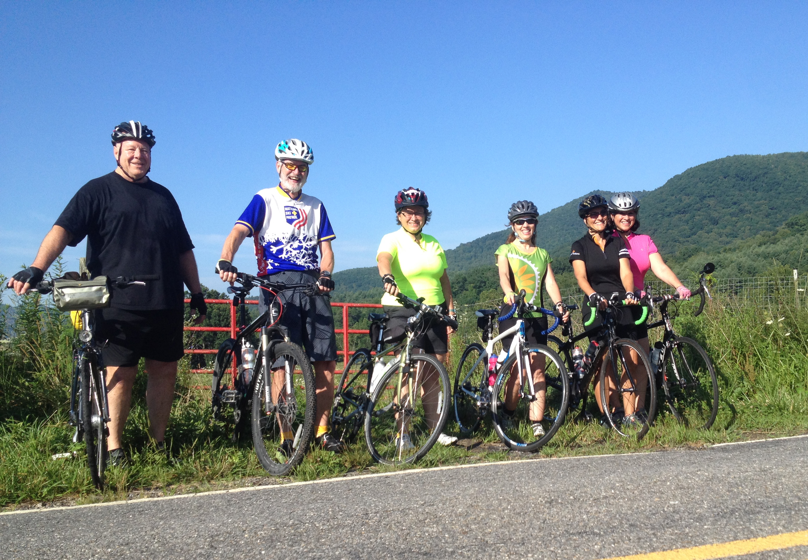 Cyclists in North Fork Valley