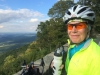 Cyclist at Shenandoah Valley Overlook