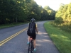 Cyclist on Blue Ridge Parkway