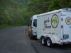 VGR Van and Trailer on Blue Ridge Parkway