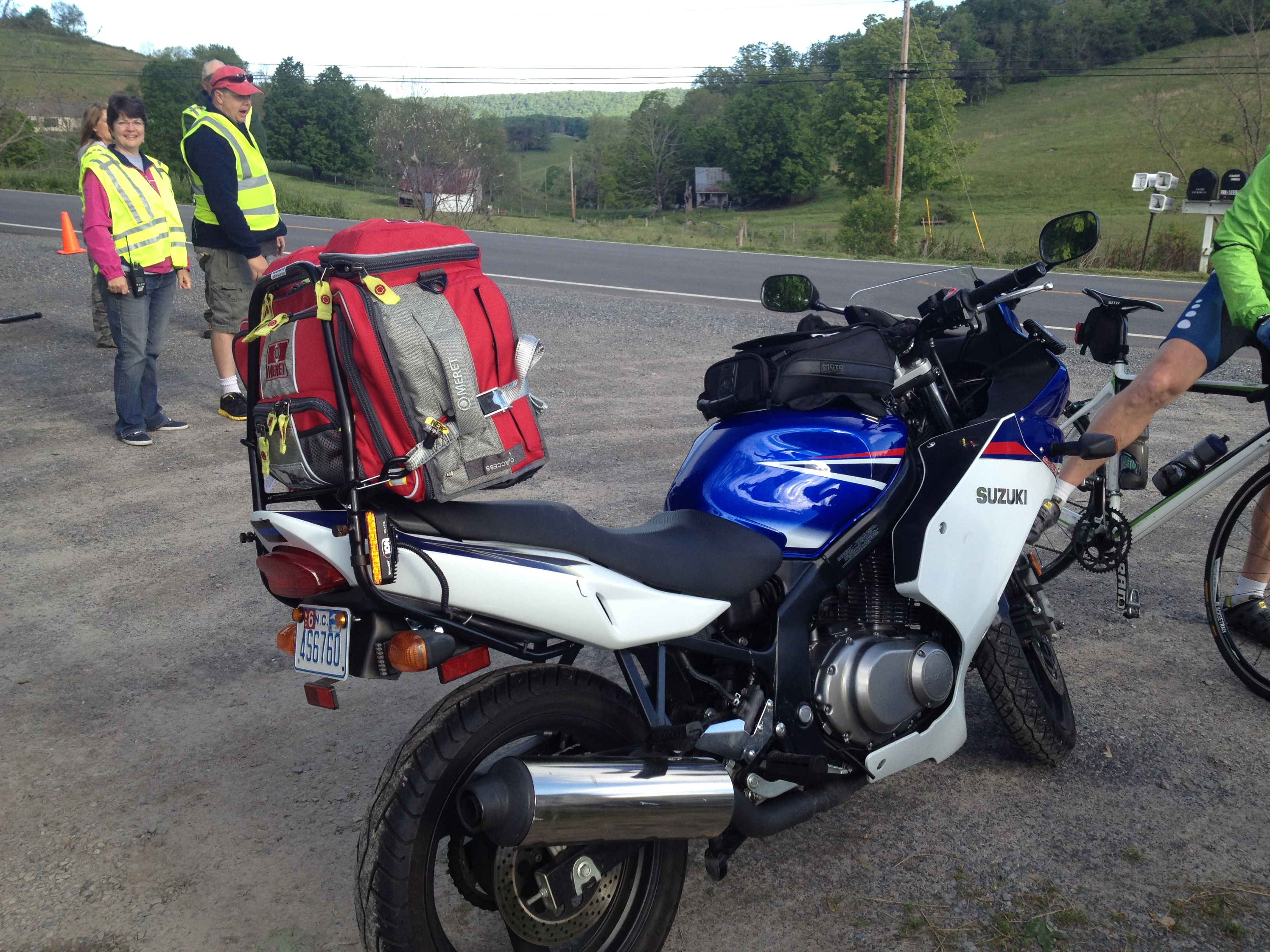 EMT Motorcycle while cycling in Virginia