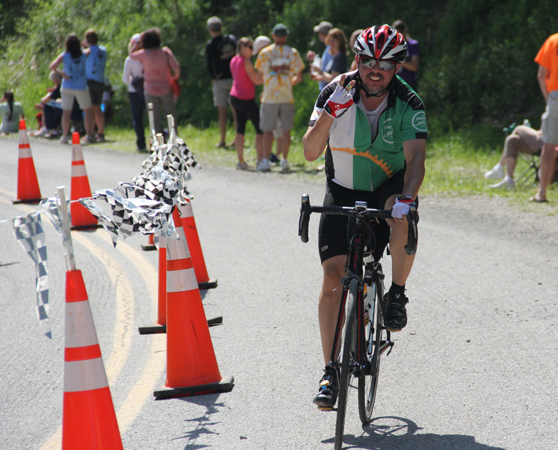 PJ Finishes on Mountains of Misery bicycle tour in Virginia