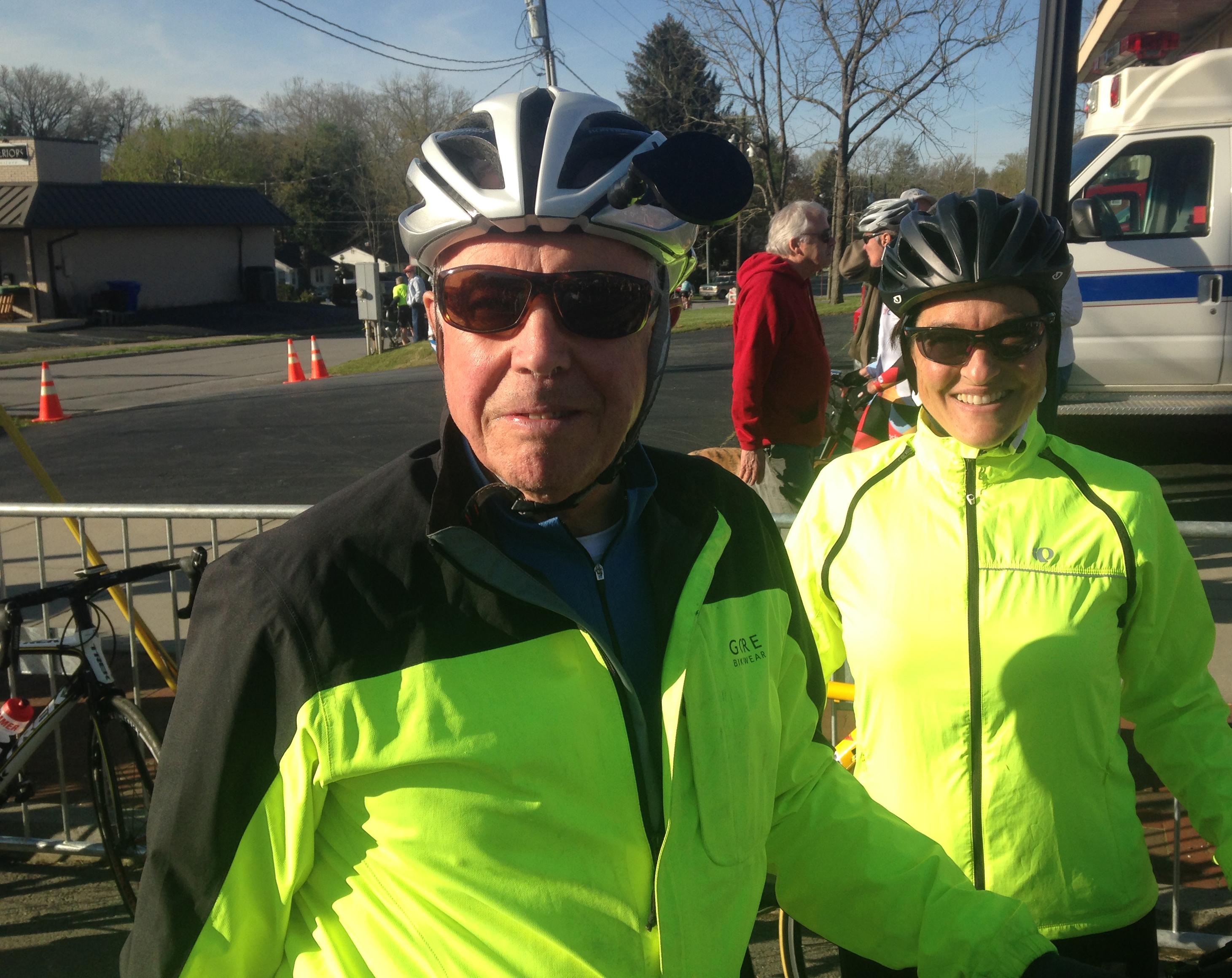 EK Morley & Jen Billstrom at the start of Bike Tour of the Carolinas