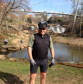 David on the Swamp Rabbit Trail