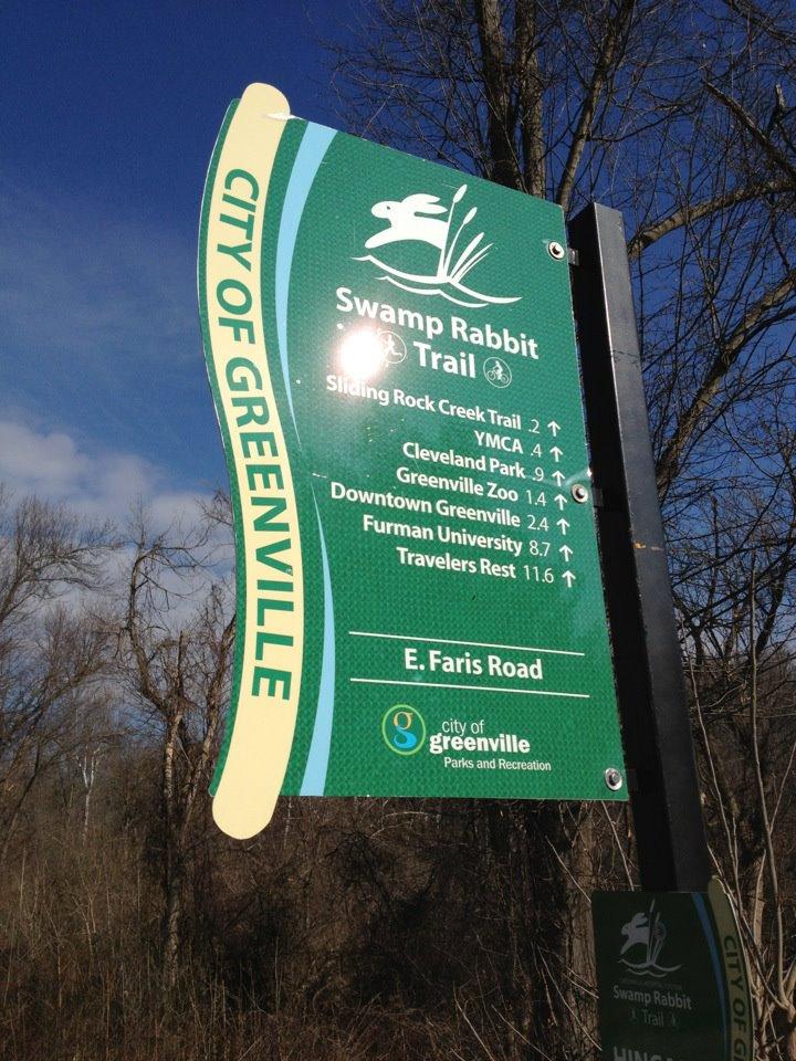 Swamp Rabbit Trail in Greenville SC