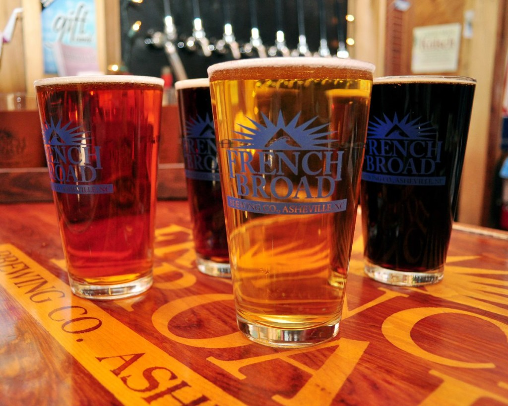 Visit a brewery or two on your custom bicycle tour around Asheville, NC