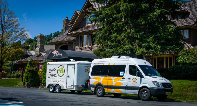 Luxury Support Van on the Blue Ridge Parkway