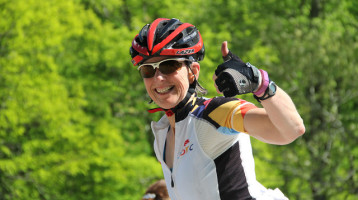 Cyclist, Wendy, conquers the Mountains of Misery Bicycle Tour in Virginia