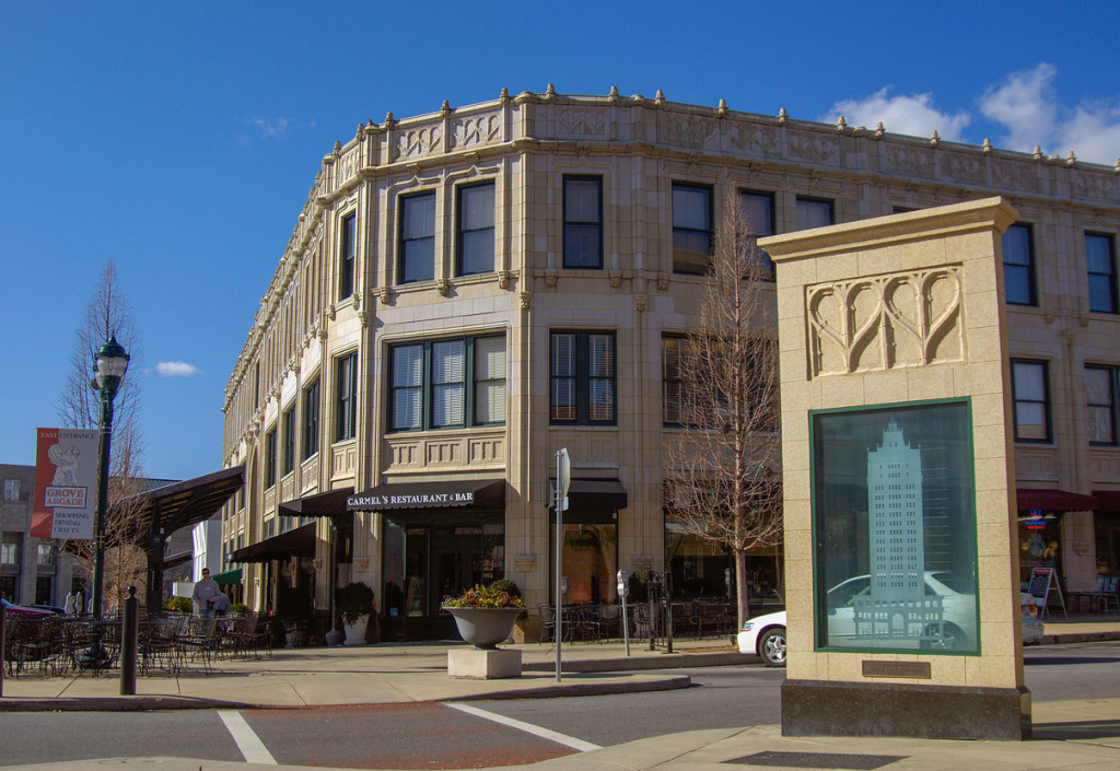 Downtown Asheville is a great place to visit while cycling in North Carolina