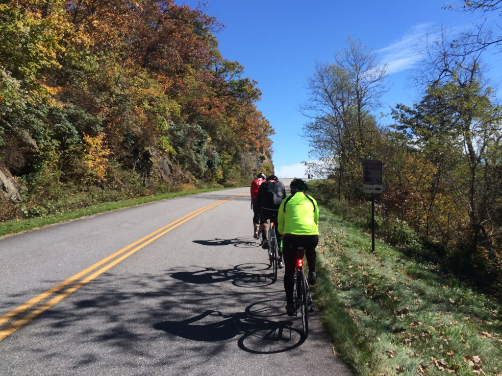 A custom bicycle tour along the Blue Ridge Parkway in North Carolina