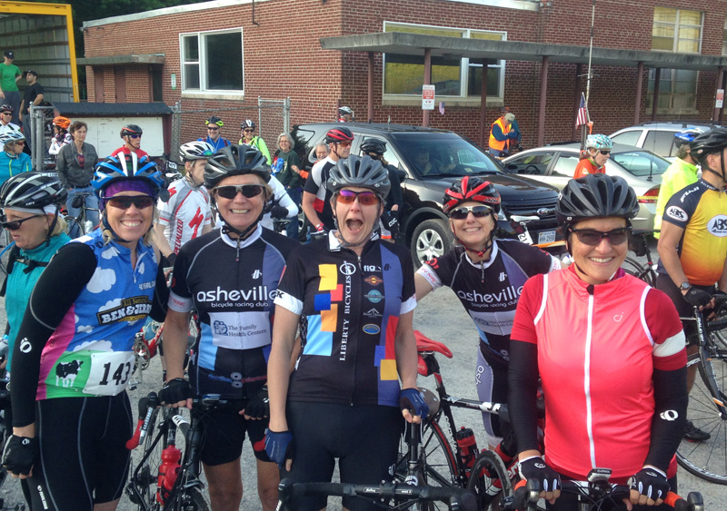 Mountains of Misery start line in 2015 with some of my best cycling buddies