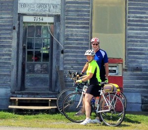 Scott and Bridget Gilchrist, at the old Burkes Garden Store on the Burkes Garden Century Tour in 2015